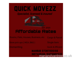 Quick Movezz Removal Service. Fully insured Fully equipped