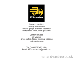 Man and van (ATG Services) Dumfries, removals, waste disposal, motorcycle delivery, gardening