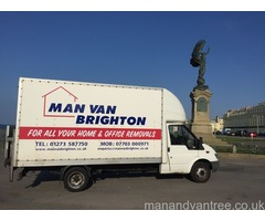 Man And Van Brighton using a large luton van with a tail lift free quote call for details