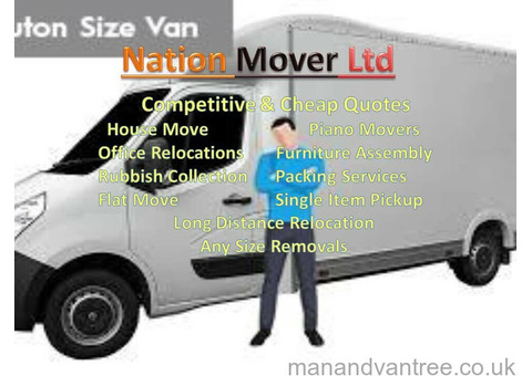 House Office Piano Furniture Bike Moving Rubbish Removals Delivery Man and Van Service Nationwide