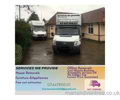 CHEAP REMOVAL 24/7 MAN AND VAN SERVICE HOUSE, OFFICE, FLAT,  APPLIANCES AND FURNITURE REMOVAL