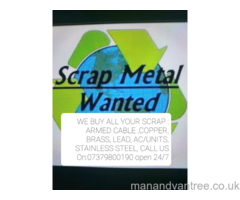 SCRAP METAL WANTED FREE COLLECTION ALL LONDON AREAS