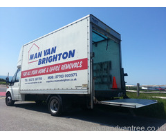 Man and Van Brighton Removals using large luton van with a tail lift.