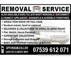 REMOVAL - MAN AND VAN IN TOWER HAMLET - REMOVAL SERVICE - MAN & VAN - REMOVAL IN TOWER HAMLETS