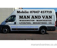 Reliable Man and Van Warrington, Manchester,  Liverpool, all UK