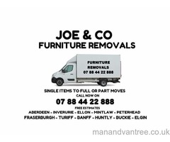 FURNITURE REMOVALS SINGLE ITEMS TO FULL OR PART MOVES 7 DAYS ALL ABERDEENSHIRE AND BEYOND